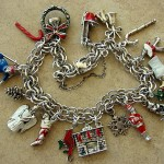 Vintage Christmas in July Charm Bracelet