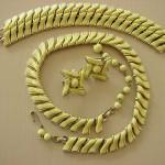 Vintage Coro Yellow Thermoset Plastic Jewelry