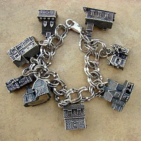 Sterling Silver Charm Bracelet Dept 56 Village Vintage