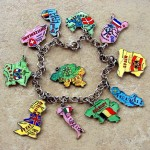 My New Maps of European Countries Charm Bracelet
