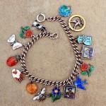 Vintage Charm Bracelet With Springtime Enamels