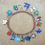 My Vintage Enamel Charm Springtime Bracelet