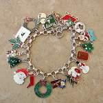 Vintage Enamel Christmas Charm Bracelets