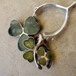 Connemara Marble Shamrock Charms For St. Patrick's Day