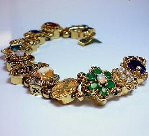 Vintage Slide Charm Bracelets
