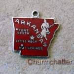 Wells Arkansas State Map Charm