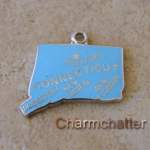 Connecticut State Map Charm Nickname