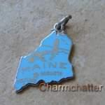 Vintage Wells Enamel Maine Charm