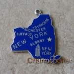 Vintage Sterling Silver New York Charm Bracelet