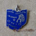 Vintage Wells Sterling Silver Ohio Charm