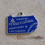 Vintage Jewelry Wells Silver Pennsylvania Charm