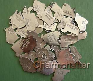 Vintage Wells State Map Charms – How Many Slogans Do You Know?