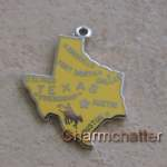 Texas Charm Vintage State Map Slogan