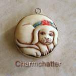 I Love Vintage Dog Charms