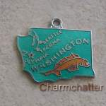 Washington Charm Wells Sterling Silver Enamel