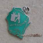 Wisconsin Charm Wells Sterling Silver Enamel
