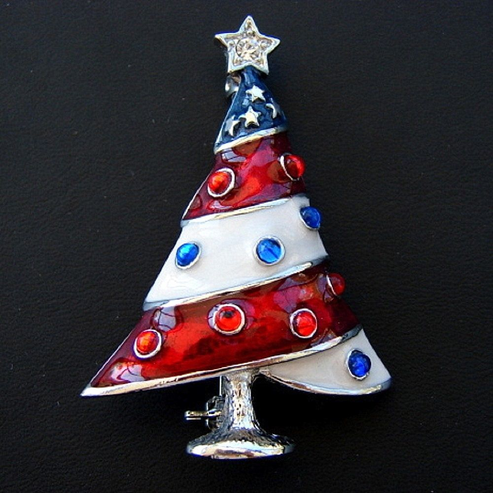 4th of July Christmas Tree Pin