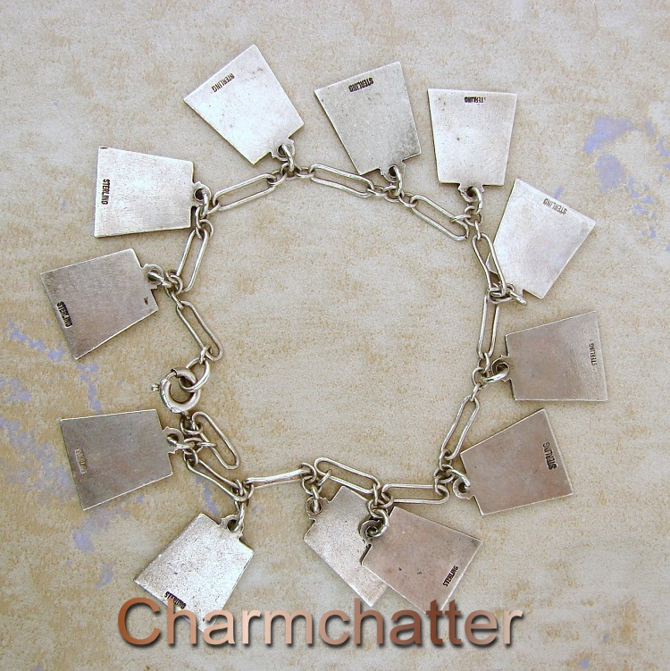 Zodiac enamel charm bracelet back