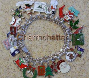 Finished My Flat Christmas Enamel Charm Bracelet