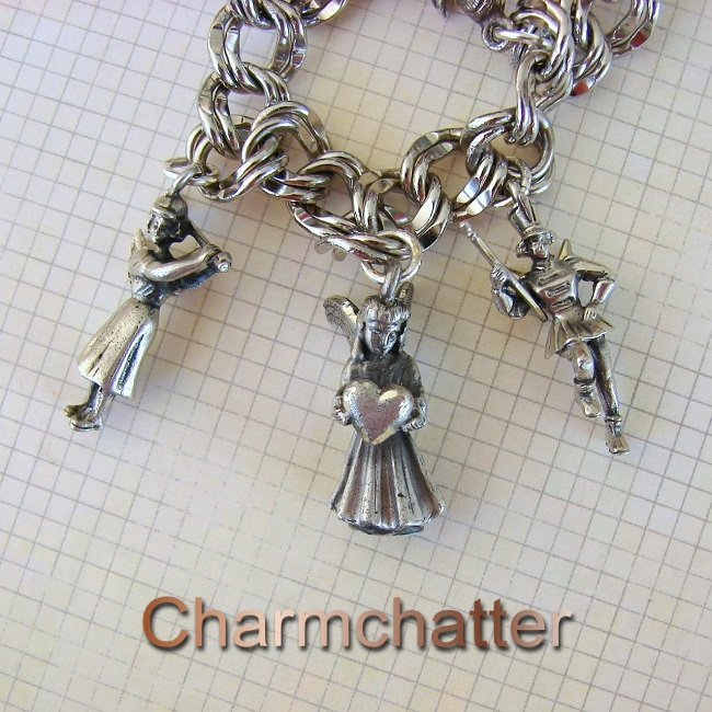 3e5bb274f3bca Creed and Hayward Angel Charms | Vintage Charms Bracelets
