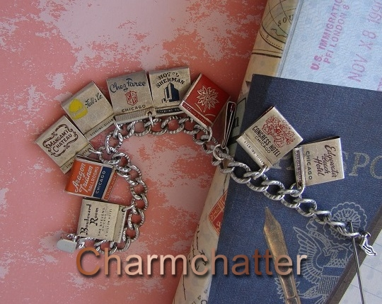 Vintage matchbook charms